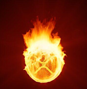 xrp price burning
