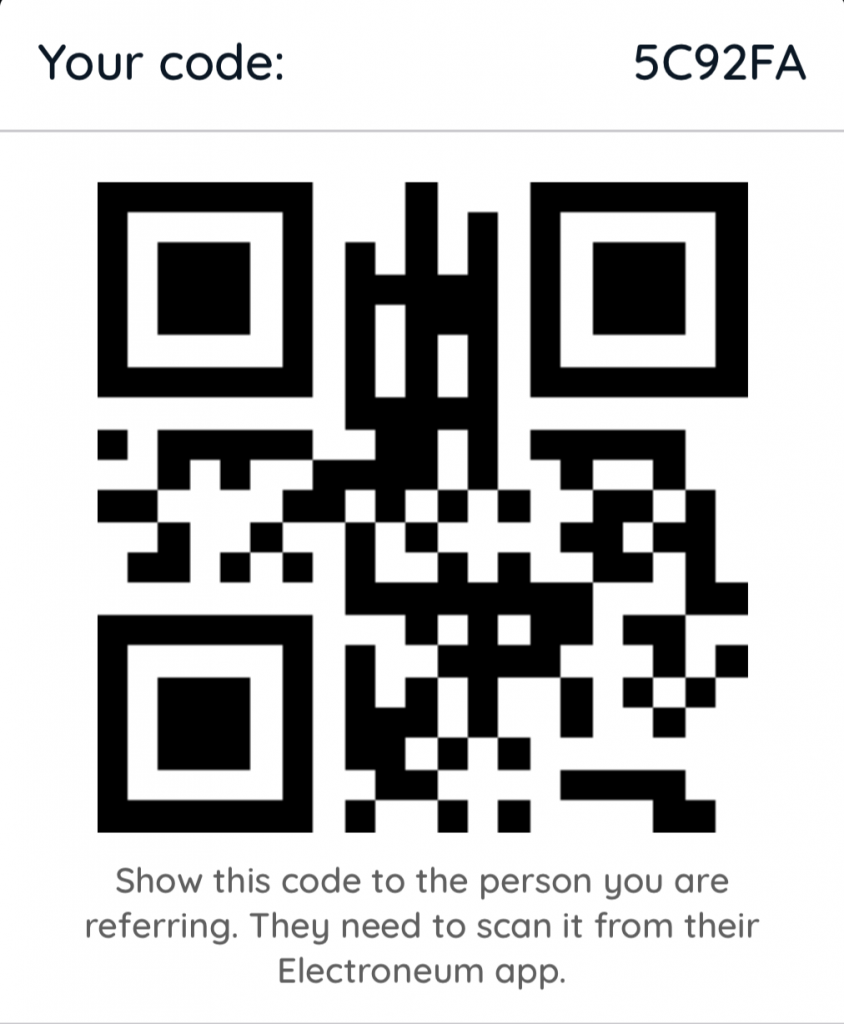 Electroneum iOS App Referral Code
