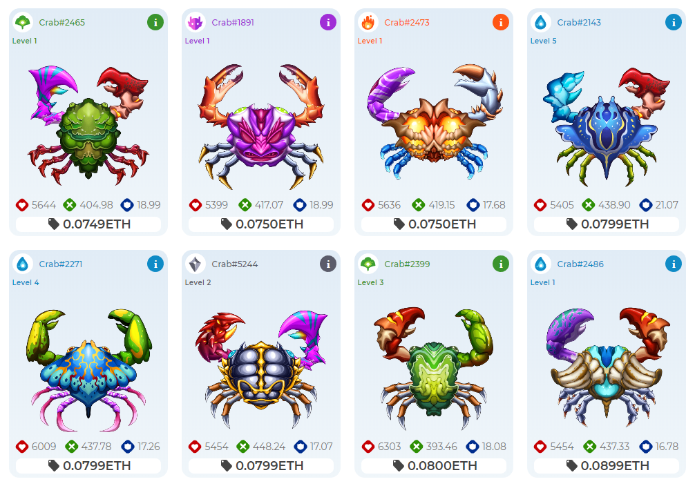 lowest priced cryptantcrab
