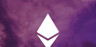 eth logo white on purple