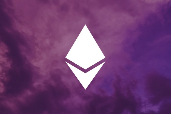 eth logo white on purple