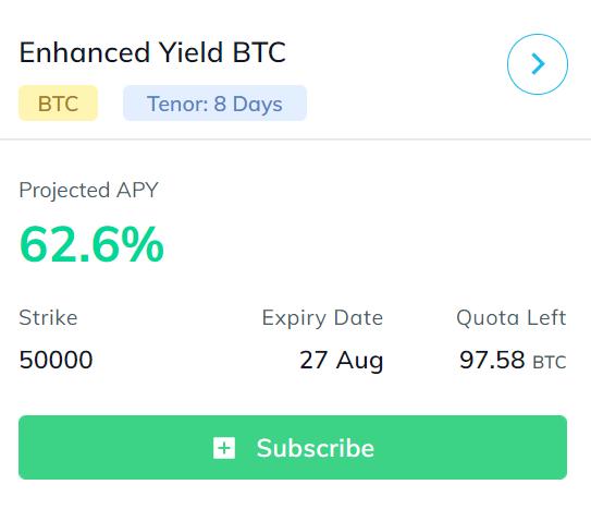 enhanced yield btc